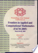 National Conference on Frontiers in Applied and Computational Mathematics  FACM 2005