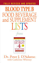 Blood Type B Food  Beverage and Supplemental Lists