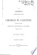 An Address Commemorative of George W. Clinton