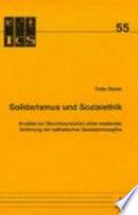 Solidarismus und Sozialethik
