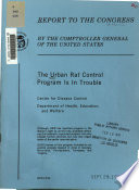 The urban rat control program is in trouble   Center for Disease Control  Department of Health  Education  and Welfare Book PDF