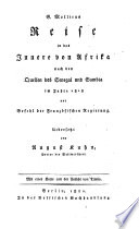 G. Molliens Reise in das Innere von Afrika nach den Quellern des Senegal und Gambia im Jahre 1818. Uebers. von August Kuhn