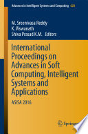 International Proceedings On Advances In Soft Computing Intelligent Systems And Applications book