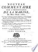Nouveau commentaire sur l Ordonnance de la marine  du mois d ao  t 1681