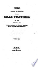 Informe sobre el estado de las islas Filipinas en 1842
