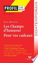Profil   Rouaud  Jean    Les Champs d Honneur  Pour vos cadeaux