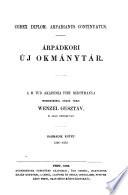 Árpádkori új Okmánytár