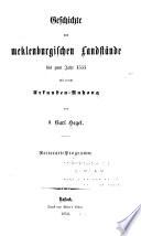 Geschichte der meklenburgischen landstände