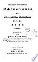 Allgemeiner montanistischer Schematismus des österreichischen Kaiserthums