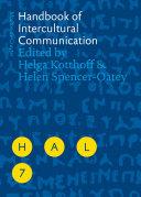 Handbook of Intercultural Communication