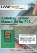 Radiology Review Manual, 5e For PDA