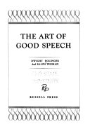 The Art of Good Speech