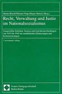 Recht, Verwaltung und Justiz im Nationalsozialismus