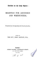 Book Avrillon on the Holy Spirit  readings for Ascension and Whitsuntide  tr  and abridged from the Fr   ed  by O  Shipley