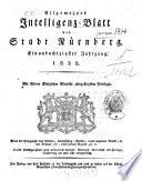 Allgemeines Intelligenz-Blatt der Stadt Nürnberg