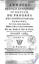 Annales typographiques ou notice du progr  s des connaissances humaines