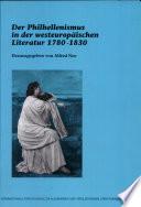 Der Philhellenismus in der westeuropäischen Literatur 1780-1830