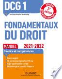 Dcg 1 Fondamentaux Du Droit Manuel 2021 2022