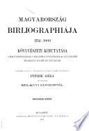 Magyarország bibliographiája, 1712-1860
