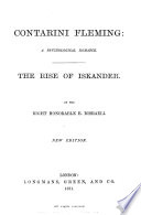Collected Edition of the Novels and Tales by the Right Honorable B  Disraeli  Contarini Fleming and The rise of Iskander