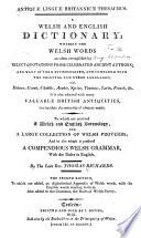 Antiquæ Linguæ Britannicæ Thesaurus
