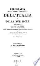 Corografia fisica, storica et statistica degli Stati Sardi Italiani di Terraferma. Continuazione della Corografia Statistica Sez. III. Industria