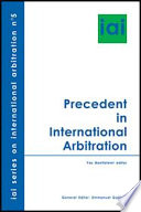 Precedent in International Arbitration