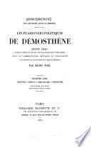 Les plaidoyers politiques de Démosthène: sér. Leptine. Midias. Ambassade. Couronne