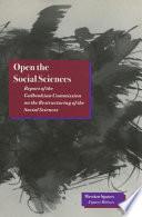Open the Social Sciences