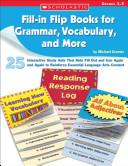 Fill In Flip Books for Grammar  Vocabulary  and More  Grades 3 5