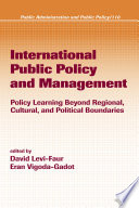 International Public Policy And Management