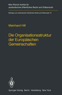 illustration Die Organisationsstruktur der Europäischen Gemeinschaften
