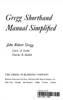 GREGG SHORTHAND MANUAL SIMPLIFIED