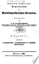 Systematisch-alphabetisches Repertorium der Homöopathischen Arzneien
