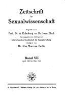 Zeitschrift f  r Sexualwissenschaft