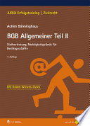 B Nninghaus Bgb Allgemeiner Teil Ii