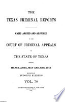 The Texas Criminal Reports Book PDF