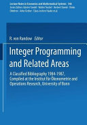 Integer Programming And Related Areas book