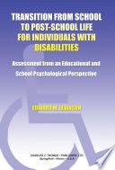 Transition From School To Post School Life For Individuals With Disabilities
