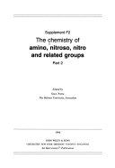 The chemistry of amino  nitroso  nitro  and related groups