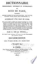 Dictionnaire topographique, étymologique et historique des rues de Paris