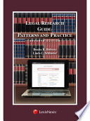 Legal Research Guide  Patterns and Practice   2015