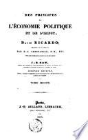 Des principes de l'économie politique et de l'impot