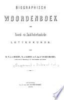 Biographisch woordenboek der Noord-en Zuid-Nederlandsche letterkunde