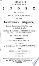 General Index To The Gentleman S Magazine