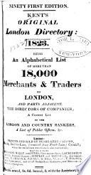 Kent s Original London Directory