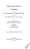 """download ebook the last days ... by the rev. edward irving, etc. a review, extracted from the """"christian observer."""" pdf epub"""