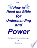 download ebook how to read the bible for understanding and power, the syllabus pdf epub