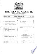 Kenya Gazette Government Of The Republic Of Kenya It Contains