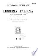 Catalogo generale della libreria italiana dall anno 1847 a tutto il 1899